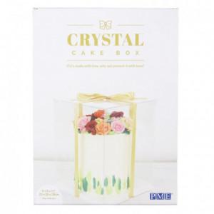 Boîte à gâteau Crystal PME 20 x 20 x 28 cm