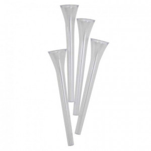 Piliers PME transparents 22,5 cm 4 pièces