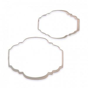 Découpoirs PME plaques à biscuit style 2 2 pièces