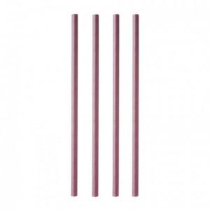 Paper straw Ø 8 mm L 230 mm plum (100 pcs)