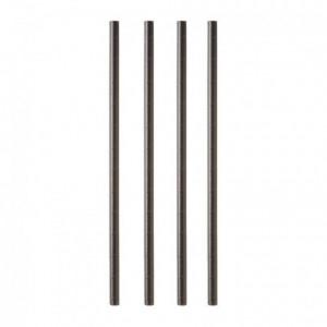 Paper straw Ø 8 mm L 230 mm black (100 pcs)