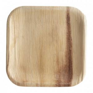 Flat square palm leaf plate 180 mm (100 pcs)