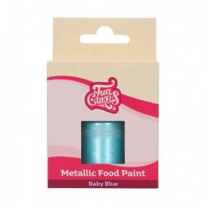 FunCakes Metallic Food Paint Baby Blue30 ml