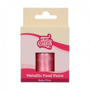 FunCakes Metallic Food Paint Baby Pink 30 ml