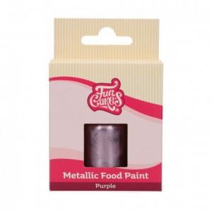 FunCakes FunColours Metallic Food Paint Purple30ml