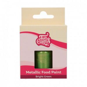 FunCakes FunColours Metallic Food Paint Bright Green 30ml