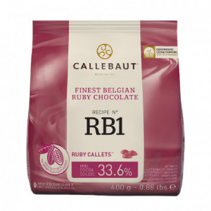 Ruby 47,3% chocolate couverture RB1 400 g