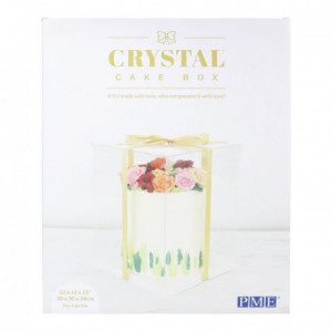 Boîte à gâteau Crystal PME 30 x 30 x 38 cm
