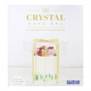 Boîte à gâteau Crystal PME 35 x 35 x 38 cm