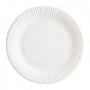 Assiette carton bioline blanche Ø 180 mm (lot de 1000)