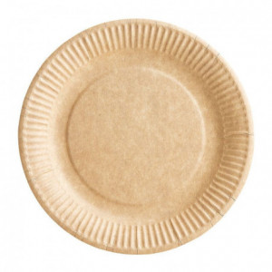 Assiette carton bioline kraft Ø 230 mm (lot de 1000)