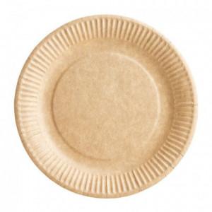 Assiette carton bioline kraft Ø 180 mm (lot de 1000)
