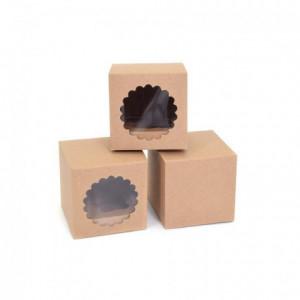 Boîtes 1 cupcake House of Marie Kraft 3 pièces