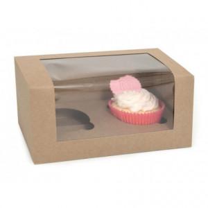 Boîtes 2 cupcakes House of Marie Kraft 3 pièces