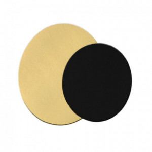 Gold and black round Ø 14 cm (set of 100) - MF