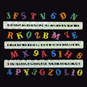 Découpoir FMM alphabet et chiffres Carnaval