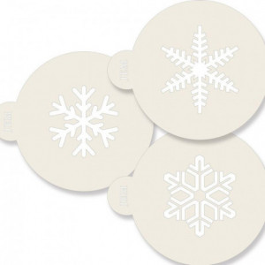 Pochoir JEM flocons de neige 3 pièces