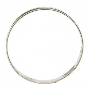 Cercle à tarte en inox Ø 220 mm H 27 mm