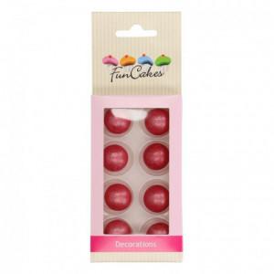 Boules chocolat FunCakes rose foncé 8 pièces