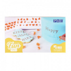 Tampons Fun Fonts PME Alphabet collection 2