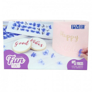 Tampons Fun Fonts PME Alphabet collection 1
