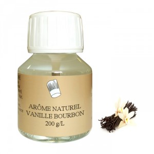 Bourbon vanilla 200 g/L natural flavour 58 mL