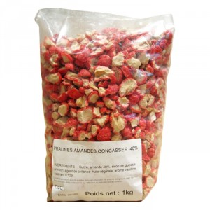 Pink Pralines almond 40% crushed 1 kg
