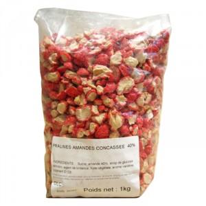 Pralines rose amande 40% concassées 1 kg