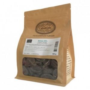 Abinao 85% chocolat noir de couverture Mariage de Grands Crus fèves 500 g