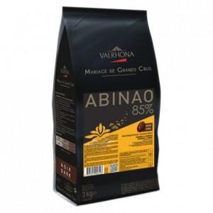 Abinao 85% chocolat noir de couverture Mariage de Grands Crus fèves 3 kg