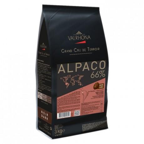 Alpaco 66% chocolat noir de couverture pur Equateur fèves 3 kg