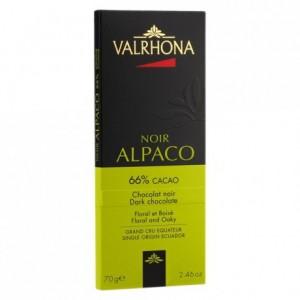 Alpaco 66% chocolat noir pur Equateur tablette 70 g