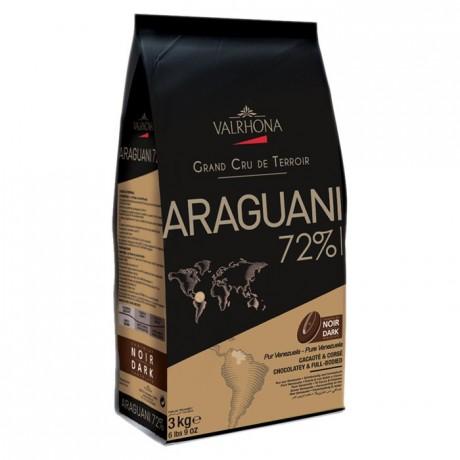 Araguani 72% chocolat noir de couverture pur Venezuela fèves 3 kg