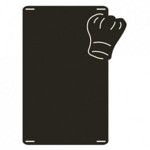 Ardoise toque de Chef + marqueur craie 647 x 484 mm