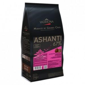 Ashanti 67% chocolat noir de couverture Mariage de Grands Crus fèves 3 kg