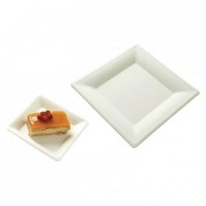 Assiette carrée fibre biodégradable (lot de 320)
