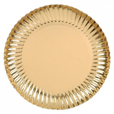 Assiette carton métallisé or ronde Ø 80 mm (lot de 50)