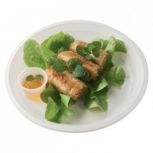 Assiette éco ronde plate blanche Ø 220 mm (lot de 100)