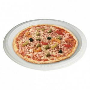 Assiette Pizza ronde plate blanche en PS Ø 320 mm (lot de 360)