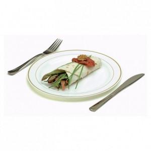 Assiette ronde blanche liseré or très rigide Ø 230 mm (lot de 200)