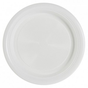Assiette ronde blanche utilisable Micro-ondes Ø 220 x 25 mm (lot de 600)