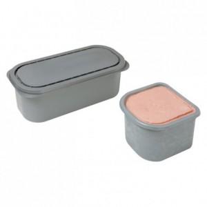 Bac à glace de stockage gris 2,5 L (lot de 25)