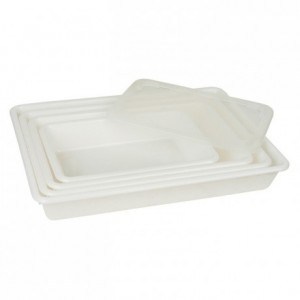 Shallow rectangular food and container 3 L 350 x 235 x 73 mm