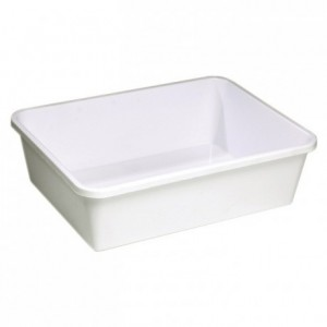 Economic rectangular dough container