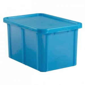 Container with lid 35 L blue
