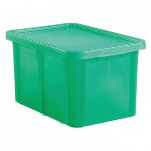 Container with lid 35 L green