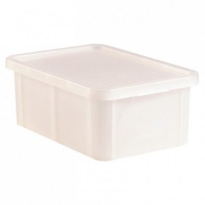 Container with lid 35 L white