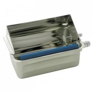Bac cuillère à glace en inox 200 x 140 mm