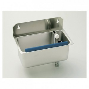 Cleaning basin ice Cream  scoop Wall-mounted stainless steel 280 x 220 x 140 mm
