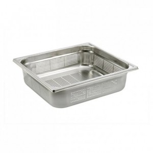 Perforated container without handle stainless steel GN 2/3 H 65 mm